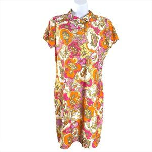 Jude Connally Polo Dress Short Sleeve Paisley Mult